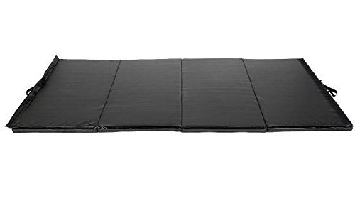 K&A Company Mat Folding Panel Gymnastics Exercise Gym Yoga Fitness Tumbling Pad New Black 4' x 8' x 2""