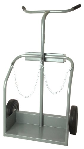 Forney 514 Deluxe Heavy Duty Cylinder Cart, Grey