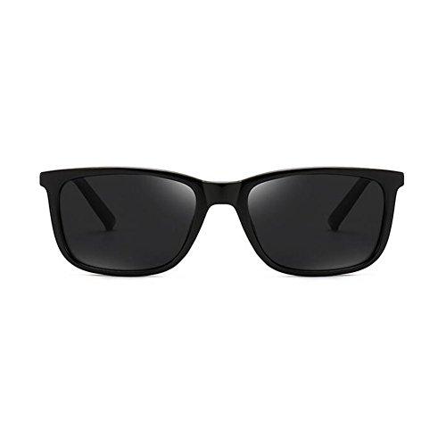 Gafas Cuadrada Polarizada Clásico Negro Protección WYYY Color oscuro Gafas Anti Hombres 100 Luz Libre Sol UV Aire De UVA Conducción Retro Protección Verde Caja Solar Gafas De wIZw7