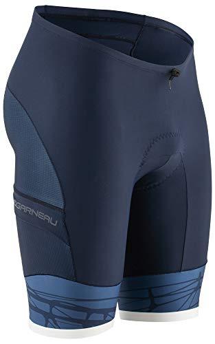 Louis Garneau Men's Pro 9.25 Carbon Padded Triathlon Bike Shorts with Pockets, Rough, Large