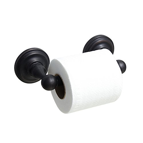 MODONA Toilet Paper Holder with Stainless Steel Roller - Rubbed Bronze - Viola Series - 5 Year Warrantee