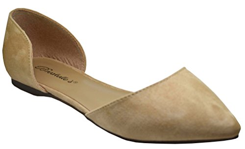 Breckelles Dolley-52 Womens Pointy Toe Slip On (9 B(M) US, Natural-52)