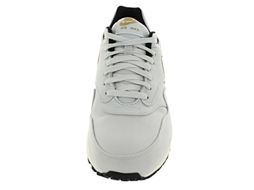 Nike Air Max 1 Premium Qs Mens Scarpe Da Corsa In Puro Platino / Mtllc Oro / Blk