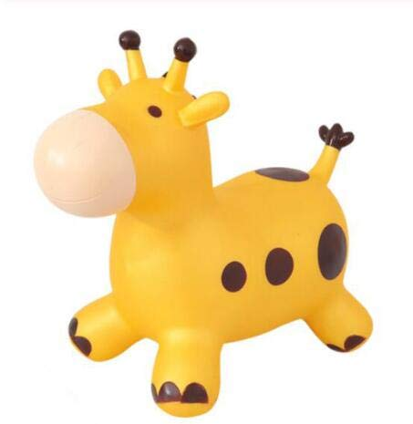 Cow Hopping Horse, Inflatable Space Hopper, Ride-On Bouncy Animal,Activities Gift for 2, 3, 4, 5 Year Old Kids Toddlers Boys Girls,B by SXJ