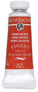 Grumbacher Finest Watercolor Paint, 14 ml/0.47 oz, Indian (Red Indian Watercolor)