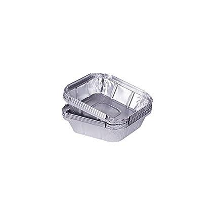"100 bandejas de aluminio rectangular de modelo ""lados"" 160 x 32 mm/"
