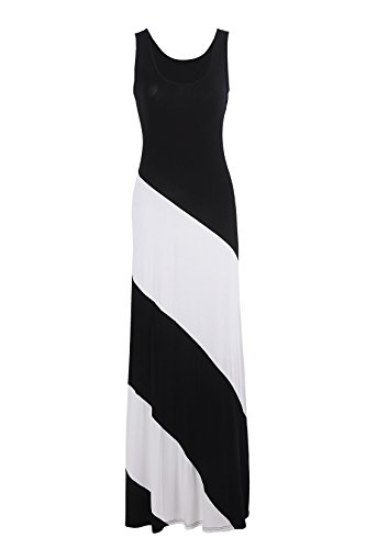PinkPatty Brand Cotton Comfortable Dress for Women Womens on Prime Black White X-Large Size (Black Maxi Dress For Tall Women)
