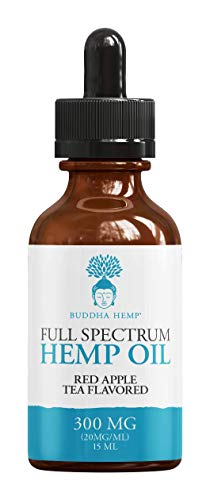 Buddha Guides (Buddha Hemp Full-Spectrum Hemp Oil for Pain & Anxiety Relief (300MG), Red Apple Tea Flavored, Full Spectrum, Organic, Non-GMO, Natural Hemp Oils for Better Sleep, Mood & Stress)
