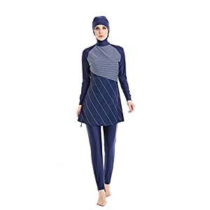 KXCFCYS Modest Muslim Swimwear Islamic Swimsuit Hijab Swimwear Full Coverage Swimwear Muslim Swimming Beachwear Swim Suit