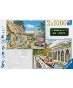 Ravensburger Countryside Memories 1000 Piece Jigsaw Puzzle (BF747DJ)