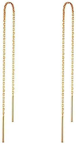 A Pair 925 Sterling Silver Tassel Threader Drop Earrings