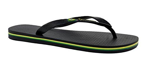IPanema Brasil Ad 80415 - Sandalias de caucho para hombre, color negro