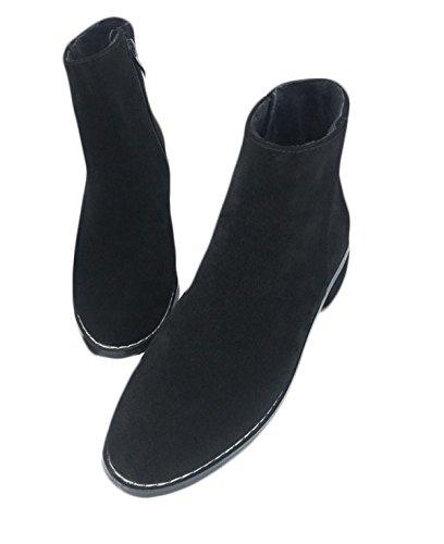 Boots Rough Boots Autunno Plus Con Laterale Black Stivali Martin Matte Velvet Donna Da Scarpe Donna Ladies Cerniera Martin GTYW Da Inghilterra Inverno Heels E High Stivali Singoli w0v1qn6Axa
