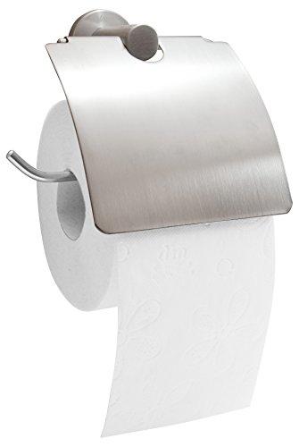 Palmon - stabiler Toilettenpapierhalter, aus hochwertigem Edelstahl, matt, rostfrei 14,5 x 15,0 x 6,5 cm
