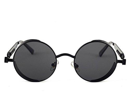 Sun doré soleil Glasses de Lens Retro Circle Femme Steampunk Vintage Round Vert Metal Cadre Lunettes Hommes wgtROqv