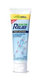 Rub on Relief [3 oz] - Natural Anti Inflammatory Pain Relief Cream - Fast and Safe Relief from Arthritis, Back Pain, Chronic Aches, Fibromyalgia, Joint Pain, Sore Muscles, Sciatica and (Analgesic Creme Rub)