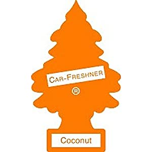 12 Pack Car Freshner 10317 Little Trees Air Freshener Coconut Scent - Single Tree per Package