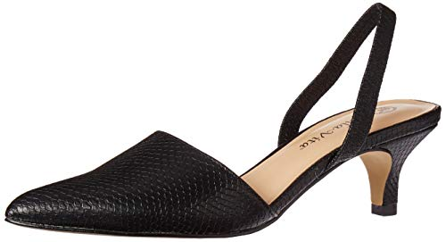 Bella Vita Women's Sarah II Slingback Dress Shoe Shoe, Black Snake, 8 M US
