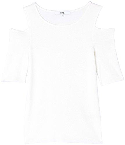 FIND Top de Punto Fino con Hombros al Aire para Mujer Blanco (Ivory)