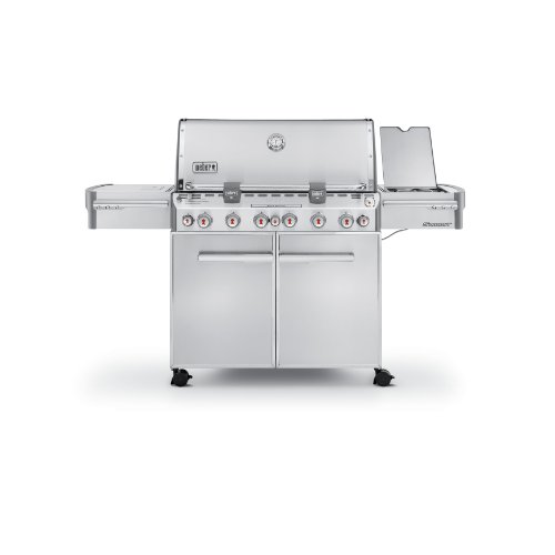 Weber Summit 7370001 S-670 Stainless-Steel 769-Square-Inch 60,800-BTU Liquid-Propane Gas ()