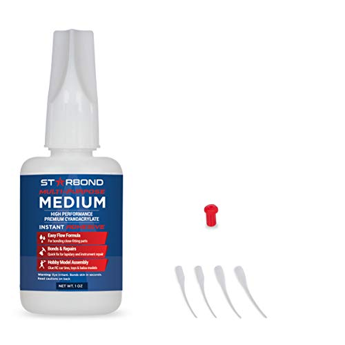 Starbond EM-150 Medium Premium CA - Cyanoacrylate Adhesive Super Glue (for Woodturning, Pen Turning, Hobby, Lapidary, Acrylic Nails) (1 Ounce)