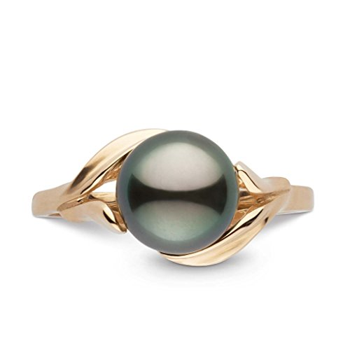 Blossom Collection Tahitian Cultured Pearl Ring - 14K Yellow Gold - Ring Size 7 ()