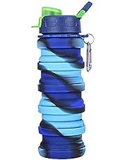 Kubek na wodę składany, duża pojemność, do fitnessu, uprawiania sportu, wspinaczki górskiej i w podróży