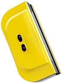 QIANZICAI 3〜28ミリメートルの厚さのガラスに適したガラス洗浄装置、シングルとダブルレイヤー調整磁性絶縁ガラス用ガラスクリーナー、 安全ロープとの強力な磁場 (Color : Yellow)