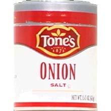 Tones Onion Salt - 1.45 oz. jar, 144 per case by Tone Brothers