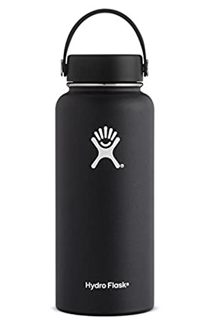 Hydro Flask 32 oz Double Wall Vacuum Insulated Stainless Steel Leak Proof Sports Water Bottle, Wide Mouth with BPA Free Flex Cap, (16 Oz Plastic Cylinder Bottles)