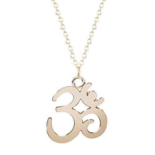 Pendant Symbol Female (CHUYUN OM Symbol Pendant Necklace Long Link Chain Charm Jewelry Stainless Steel Minimalist Yoga Bijoux For Women (gold))