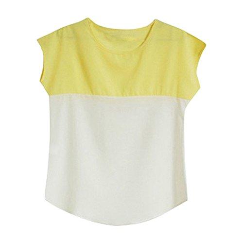 seawood Yellow Beige White Femme Chemisier pq7Enwptr