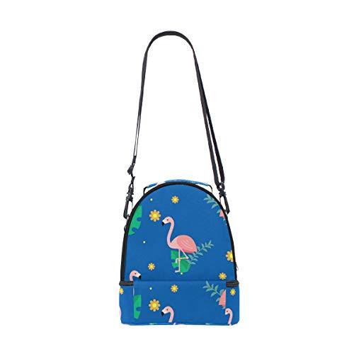 floral correa el escuela para pincnic aislante con almuerzo Bolsa ajustable de de la con Alinlo hombro estampado para ZvFXn8qSxx