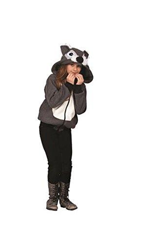 [RG Costumes Smoochi The Squirrel Hoodie Costume, Gray/White, Medium] (Squirrel Halloween Costume)