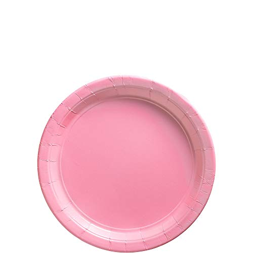 Amscan New Pink Paper Plate Big Party Pack, 50 Ct.]()