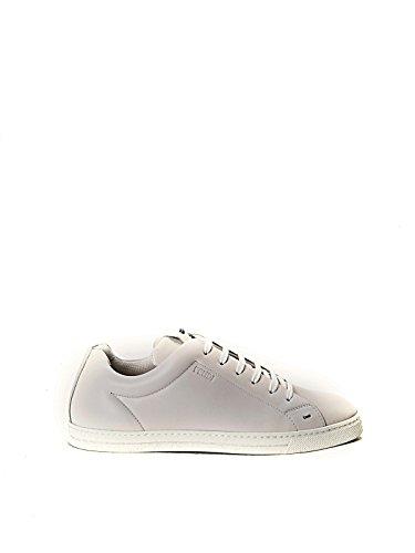 FENDI MEN'S 7E10088GMF05U3 WHITE LEATHER SNEAKERS (Fendi Mens Sneakers)