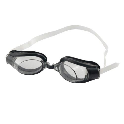 Clear Black Antislip Adjustable Band Swimming Goggles Glasses for Children