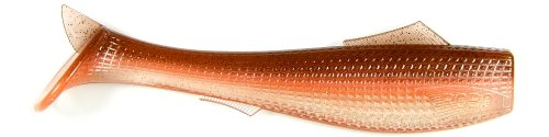 Roboworm 6-Inch Ocean Swimbait -Pack of 2 (Brown Orange Flash) (Roboworm Swimbait)