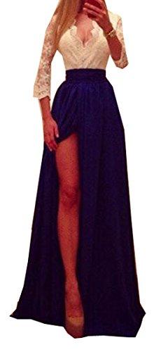 Jaycargogo Profond Col V Sexy Fendue Femmes Longue Robe De Soirée 2