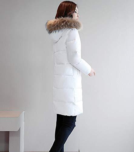 Piumino White Sottile Collo amp;jy Con Piumino X white Di Da Cappuccio Donna Caldo Casual Invernale Moda Pelliccia l nP886F