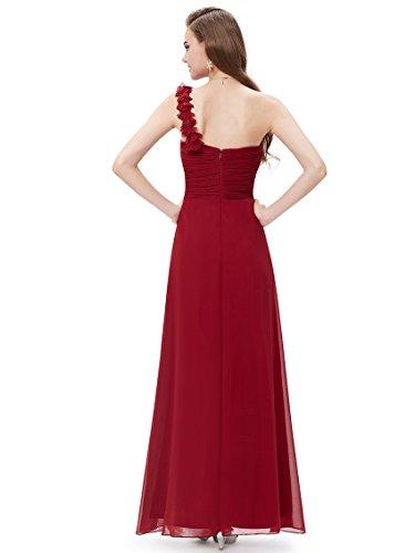 Borgoña 09768 Fiesta Pretty Noche Mujer para de Vestido Gasa Coctel Ever Elegantes Partido de Ceremonia Vestidos U6axZnqZFw