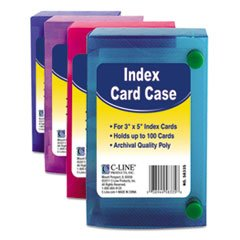 C-LINE Polypropylene Index Card Case for 100 3 x 5 Inch Card
