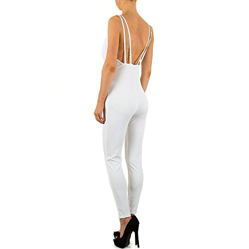 Jumpsuit Overall Für Damen , Weiß In Gr. S bei Ital-Design