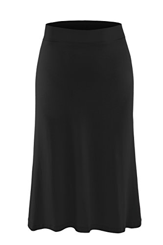 AM CLOTHES Plus Size Knee Length Midi Skirt for Women