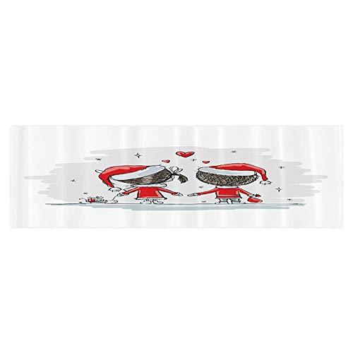 Leigh R. Avans Background Fish Tank Sticker Soul Mates Love Couples with Santa Costumes mily Romance Winter Night PVC Aquarium Decorative Paper -