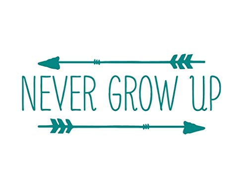 Creative Concept Ideas Never Grow Up Arrows Neverland CCI Decal Vinyl Sticker|Cars Trucks Vans Walls Laptop|Teal|7.5 x 3.0 in|CCI2232 -