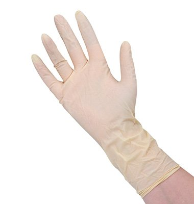 12'' Powder-Free Latex Clean Room Gloves - Medium (5 mil) (100 Gloves) - AB-66-7-216