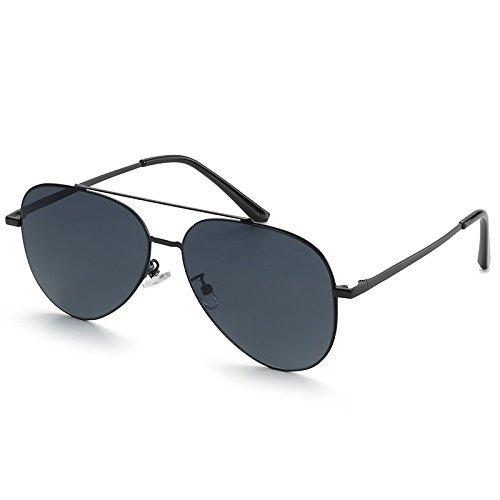 Pilote Homme Aviator Non Lunettes TL Polarizzato Black Lunettes Sunglasses Lunettes Unisexe Hommes Guide PO4qvYw