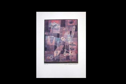 Rare Lithograph Art (Paul Klee (1879-1940) Pochoir Limited Edition, Analyse Verschiedener Perversitaten   Signed   Rice Paper   Gallery Prepared Authentication   ART183;docs8482; Registered Documentation185; + ART183;sure8482;179;)