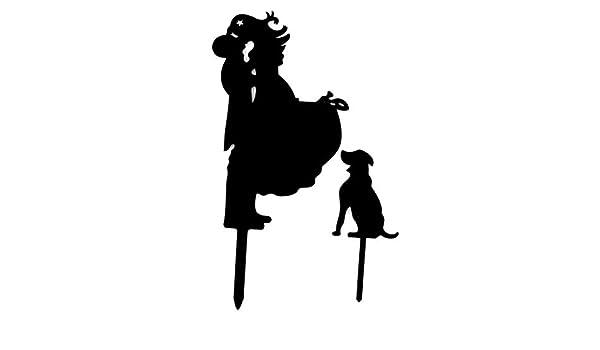 Amazon.com: eDealMax Fiesta de la boda de acrílico bricolaje Novio de la Novia y el perro de la Magdalena de la decoración de la Torta recogida 2 en 1 ...